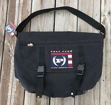 PHAT FARM CANVAS MESSENGER BAG OVER THE SHOULDER  WITH ADJUSTABLE STRAP (BLACK)