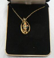 """HUMMEL GOEBEL """" GIRL WITH RAF DOLL """" COLLECTORS CLUB NECKLACE"""