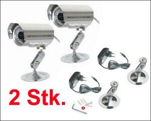 2 x -SONY CCD- Farb Infrarot Überwachungskamera 818D-30