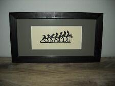 Seven Dwarfs Hand Cut SILHOUETTE Art SIGNED