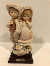 Giuseppe Armani Boy and Girl Holding Hands Capodimonte Figurine Htf Rare 1984