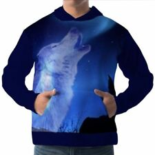 Unbranded Hooded Wolf Hoodies & Sweats for Men