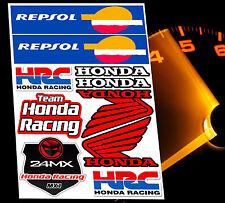 SET MOTORRAD AUFKLEBER HONDA SPONSOR REPSOL STICKERS MOTORSPORT D 24