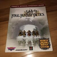 Final Fantasy Tactics Prima's Official Strategy Guide Playstation 1 HTF Rare