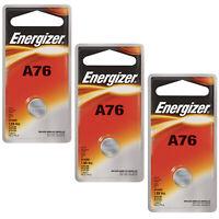 3x Energizer 1.5V Alkaline Battery A76, PX76A, D76A, GPA76, 1166A, S76, 904