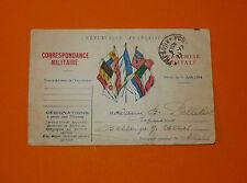 CPA GUERRE 14-18 CORRESPONDANCE MILITAIRE 1917 POILUS ARMEE MILITARIA TRANCHEES
