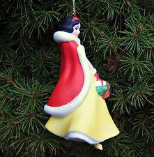 DISNEY GROLIER Snow White & 7 Dwarfs Porcelain Treasures Christmas Ornament NEW