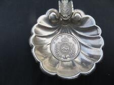 Antique Sterling Silver .950 Brazil 500 Reis 1854 Coin Set Ashtray 21g