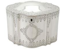 Plata Esterlina de bloqueo Tea Caddy-Antiguo Victoriano