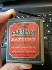 Antique Eveready Battery #751 3 Cell. 1924..