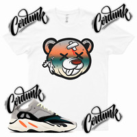 White DEAD BEAR Sneaker T Shirt to match Yeezy 700 Wave Runner - Azareth Inertia