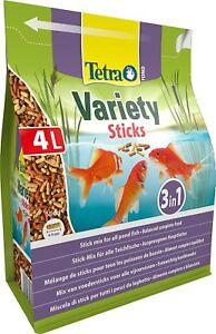 Tetra Pond Variety Sticks 4L / 600g - Mix of 3 Different Food Sticks For Fish