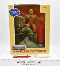 He-Man Talking Toothbrush MIB Masters Of The Universe He-Man 1984 Mattel Vintage