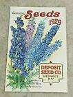 VINTAGE 1929 CATALOG FOR SEEDS AD FLOWER ADVERTISING;  DEPOSIT SEED CO, NY