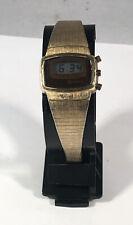 Vintage Hamilton Red LED Digital Wrist Watch, 10k RPG Bezel, Untested,