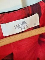 WALLIS LADIES SMART DRESS  SIZE  SMALL.. RED/BLACK OFFICE WORK WEDDING PARTY WE