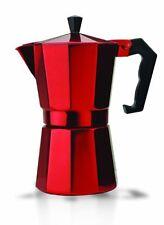 Primula 6 Cup Aluminum Stovetop Espresso Maker - Red - 12 Fl Oz Coffee Pot -