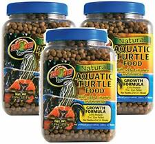 New listing 3 Pack of Natural Aquatic Turtle Food with Growth Formula, 7.5 Ounces Per Conta