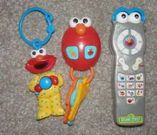 Fisher Price ELMO SILLY SOUNDS  car keys TV REMOTE Sesame Street lot of 3 toys