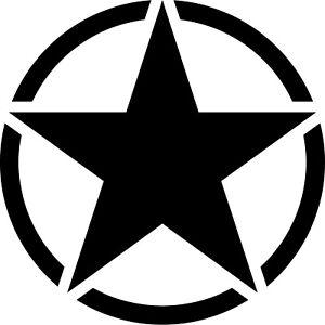 7cm Gloss Black USA US Stern Car Jeep Sticker Tattoo Film Car Sticker