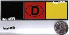 GERMAN DEUTSCHLAND EURO BADGE -  VW AUDI MERCEDES BMW PORSCHE - FREE SHIP!