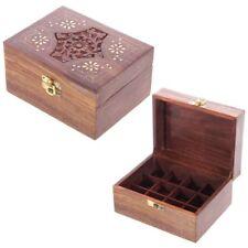 BOÎTE ou COFFRET aromathérapie Bois indien pour Huiles essentielles (12 flacons)