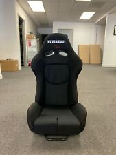 SINGLE BRIDE GIAS V1 Black Cloth FRP Shell Racing Seats Bucket Slider Rail JDM
