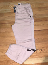 NWT Abercrombie & Fitch A & F Women banded Sweatpants Pants L Blush Pink
