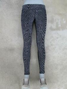 Zella Leggings Skinny Tights Sz L Yoga Workout Pants Black Zebra