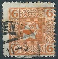 1908-10 AUSTRIA USATO GIORNALI TESTA DI MERCURIO 6 H - A110