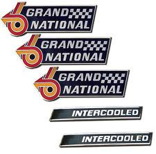Buick 5 Piece GN Fender Emblem and Intercooled Emblem Set