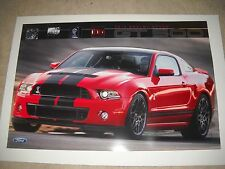 Rare Shelby Cobra Ford Mustang GT 500 Double Sided Factory Issued Poster