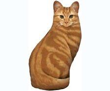 Fiddler's Elbow orange tabby cat pellet fill doorstop 100%cotton silkscreen FE72