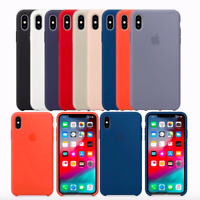 iPhone XS / XS Max / XR Echt Original Apple Silikon Hülle Case - 18 Farben