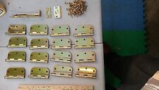 8Uu11 Door Hinges, 16 Pairs, With A Slide Pin And Other Hardware, Very Good Cond