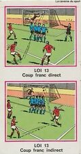 N°421 LES LOIS DU JEU DU FOOTBALL # STICKER PANINI FOOTBALL 1977