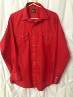 Open Range Rodeo Shirt Pearl Snap Western Red See Description Slight Flaw VTG