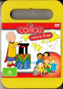 CAILLOU VOLUME THREE 3 REGION 4 AUSTRALIAN RELEASE -Kids DVD Series New