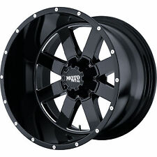 "20x12 Moto Metal MO962 Rims Black Wheels 35"" Tires Fit Lifted Chevy GMC Trucks"