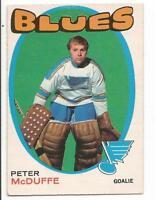 71-72 OPC O-Pee-Chee Peter McDuffe #225 (Excellent)