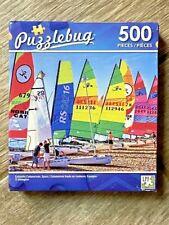 Puzzlebug 500 Piece Puzzle (NEW) Colourful Catamarans Spain Boats Sails Beach