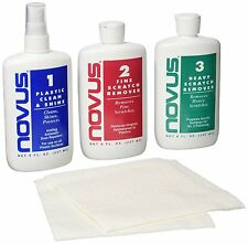 Novus 8 oz Plastic Polish Kit Plastic Cleaner Polish & Scratch Remover Free Ship