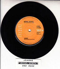 "MICHAEL NESMITH  Joanne 7"" 45 rpm vinyl record + juke box title strip RARE!"