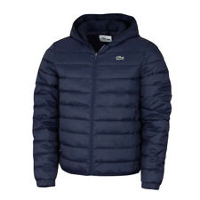 LACOSTE MEN'S QUILTED HOODED WINTER SPORTS JACKET IN NAVY BLUE // BNWT //