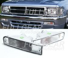 CHROME WITH CLEAR LENS BUMPER SIGNAL LIGHT PAIR SET FOR TOYOTA 4RUNNER 1992-1995