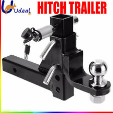 50mm Adjustable Height Tow Hitch Trailer Ball Towbar Drop Mount Tongue 4WD Car