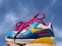 NIKE AIR MAX 90 Rainbow Primary Colors Toddler Boys Girls Shoes Sz 5C 5 👣b14