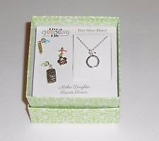 """Live A Charming Life """"Mother Daughter"""" Pure Silver Plated Chain & Charms NEW"""