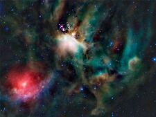 PRINT POSTER SPACE TELESCOPE STARS NEBULA RHO OPHIUCHI GALAXY UNIVERSE NOFL0436