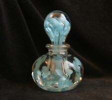 Vintage St. Clair Blown Glass Sky Blue Perfume Bottle Paperweight